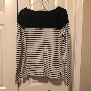 New Loft T-shirt. Navy & white M